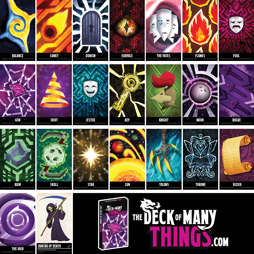 graphic about Deck of Many Things Printable referred to as Package deal: Fastened of The Deck of Innumerable + PDF