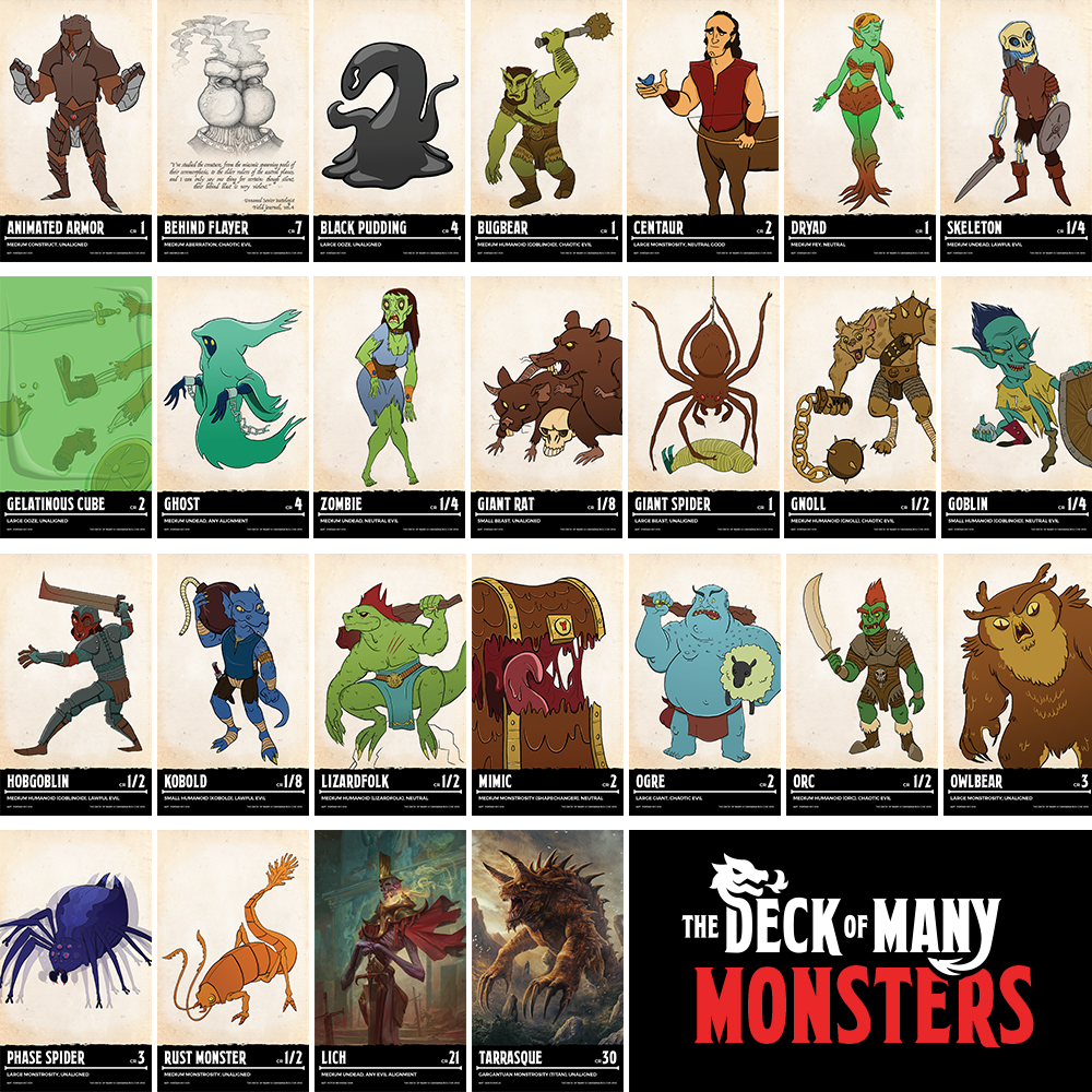 picture about Deck of Many Things Printable called Deal: Established of The Deck of Several + PDF