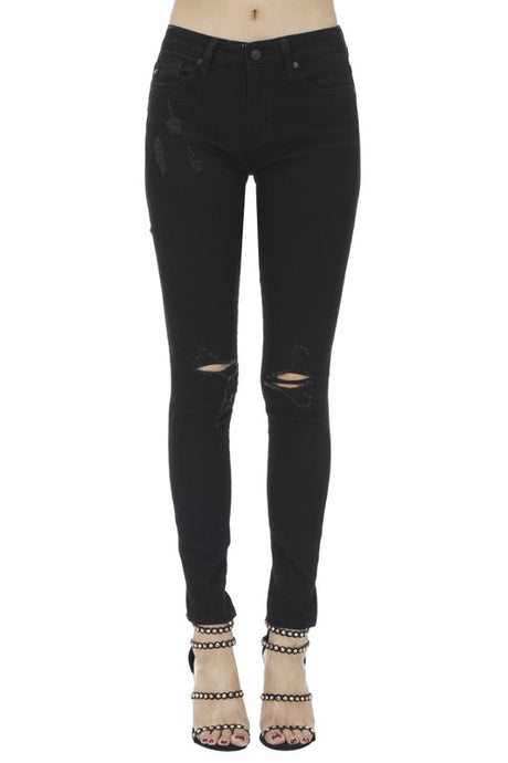 Distressed Black Jeans | Extended