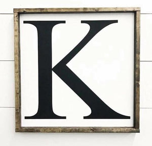 Fixer Upper Monogram Sign - Any Letter