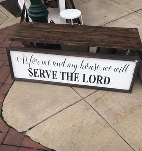 Serve The Lord Sign