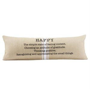 Happy Long Grainsack Pillow