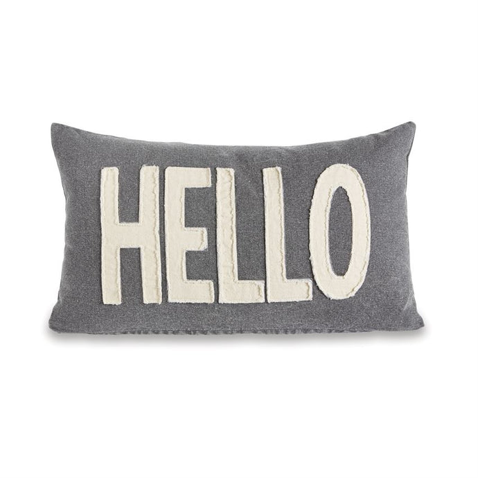 Hello Pillow - Gray