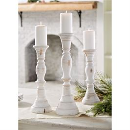 White Washed Candle Sticks