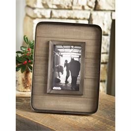Tin & Planked Wooden Picture Frame