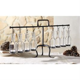 Hanging Bottle Tea Light Display