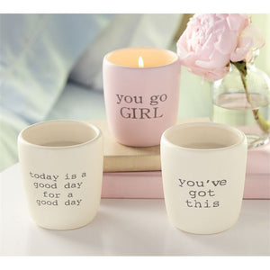 Positive Ceramic Candles