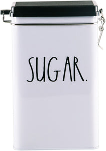 "Rae Dunn 8"" ""Sugar"" Tin Storage Box"