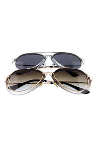 Double Framed Aviator Sunglasses