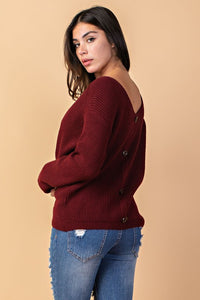 Burgundy Reversible Helix Top
