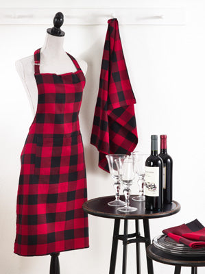 Red & Black Plaid Apron