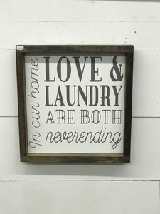 Love & Laundry Sign