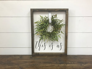 This Is Us Wreath Sign