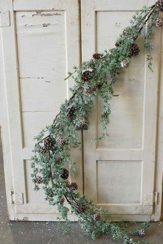 Icy Snow Cedar Garland | 4ft