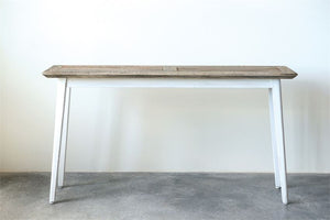 Wood Console Table, White & Natural - Not Shippable