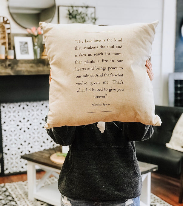 Pillow Cover - The Best Kind of Love