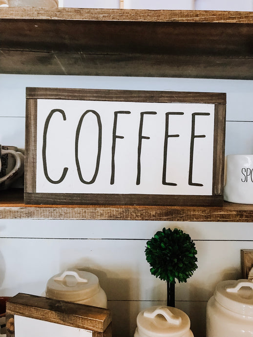 Coffee Sign - Rae Dunn Inspired