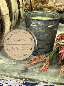 Olive Bucket Candle - Pound Cake