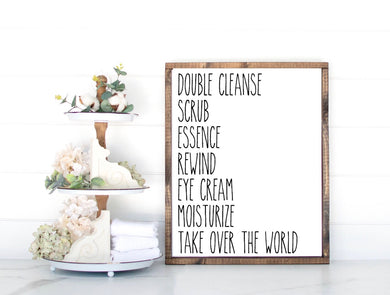 Skincare Routine Sign