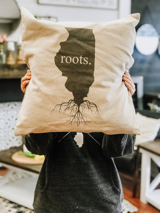 Pillow Cover - Illinois Roots