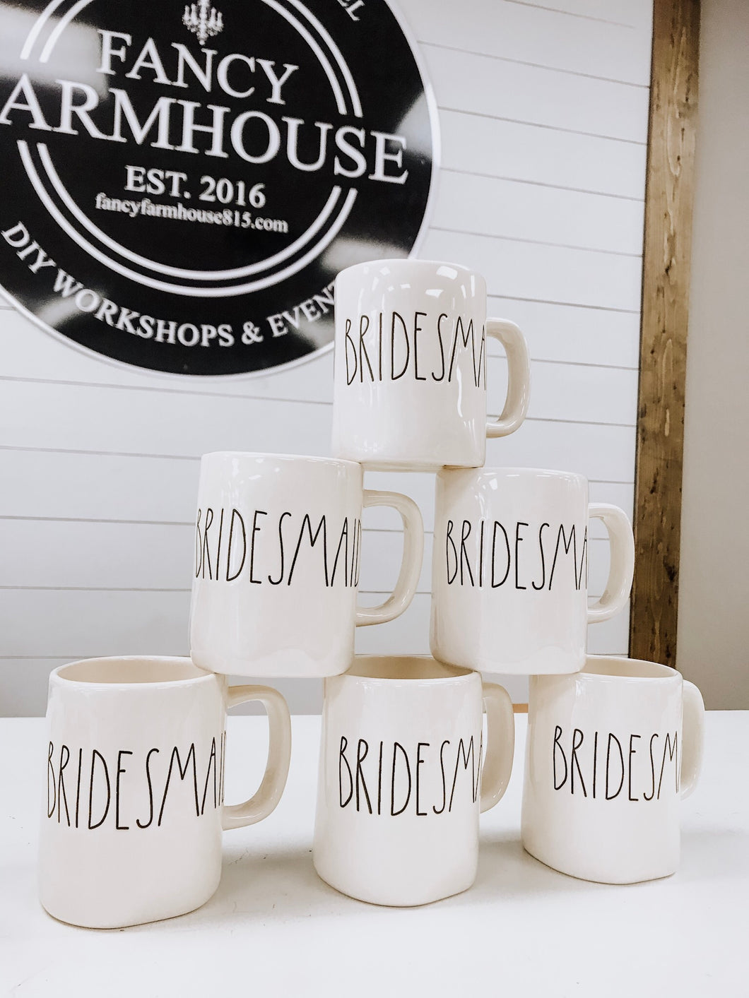 Set of Rae Dunn Bridesmaids Mugs