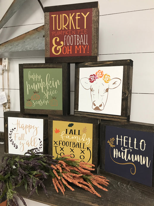 Mini Fall Sign - Pick One or all!