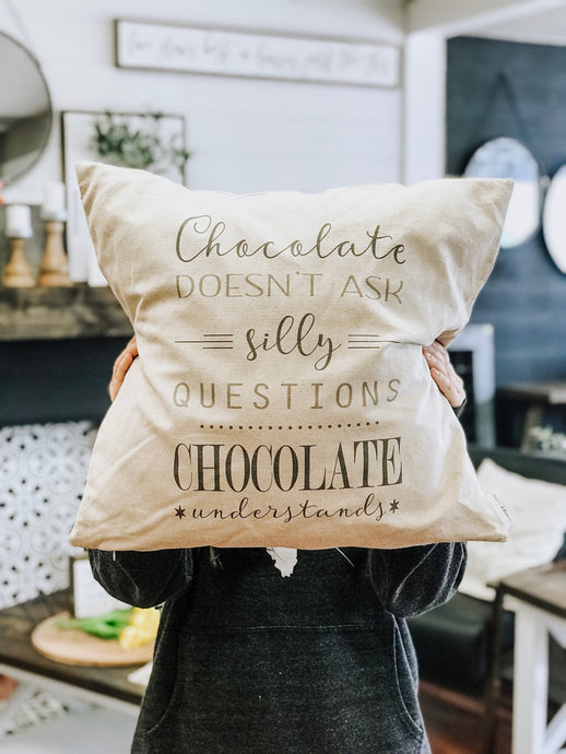 Pillow Cover - Chocolate