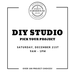 DIY Workshop on Saturday, December 21st - Over 100 Different Projects! 9am - 1pm