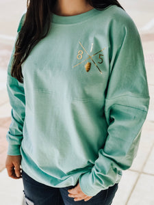 815X Varsity Jersey - Mint with Gold