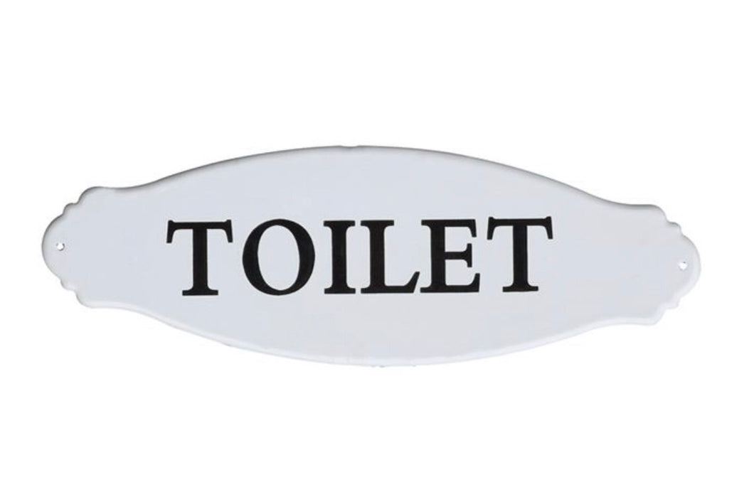 Toilet Sign - Enameled