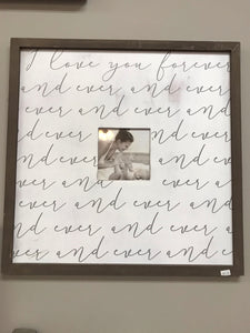 I Love You Sign / Picture Frame
