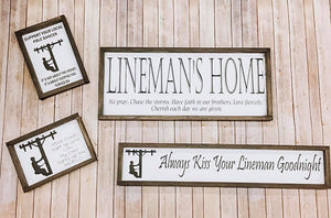 Lineman Signs - 4 Choices