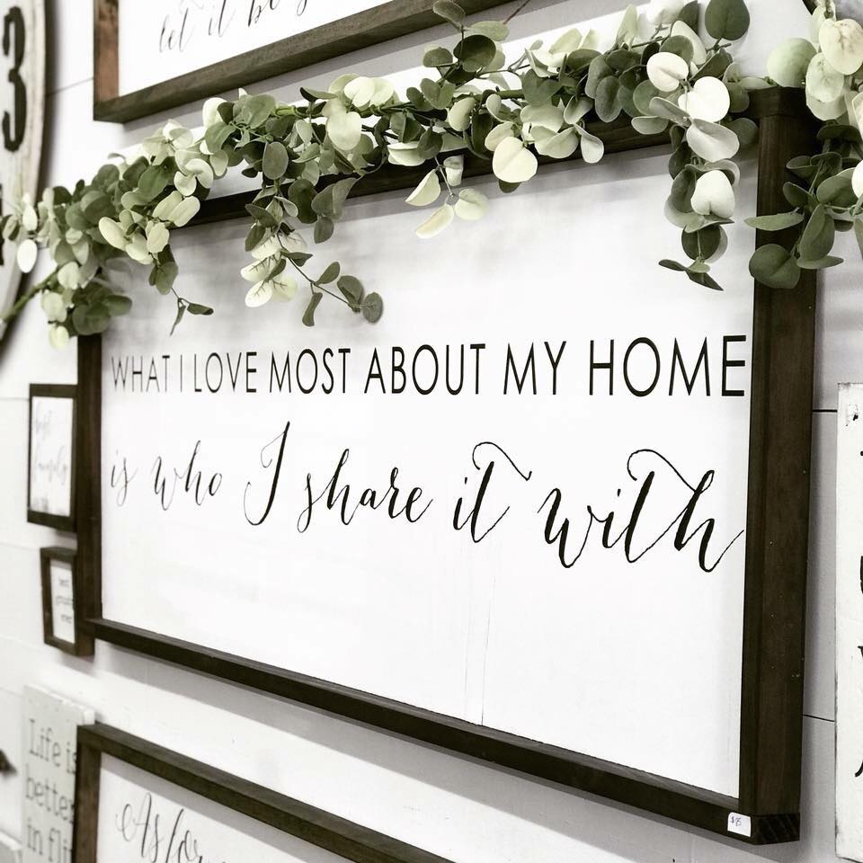 What I Love Most About My Home Sign