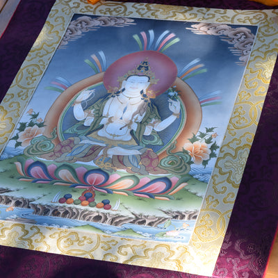 Four-Armed Avalokiteshvara Thangka