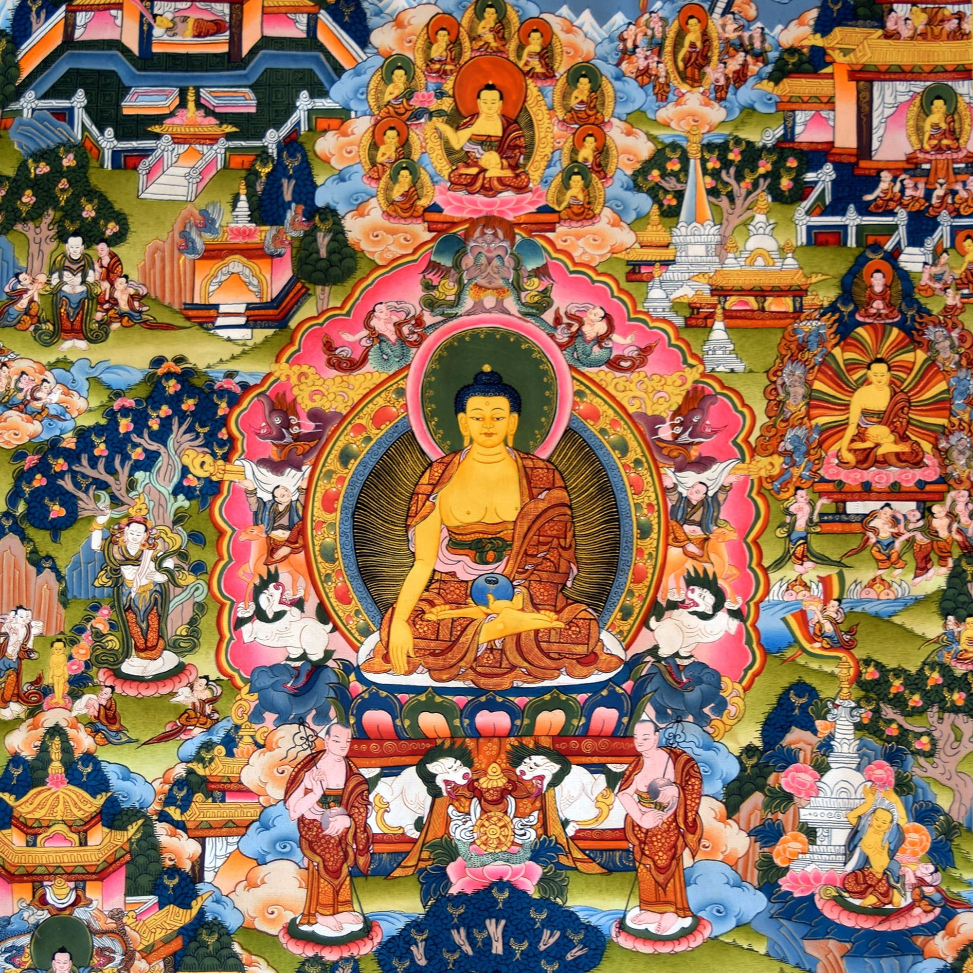 Life of the Buddha Thangka