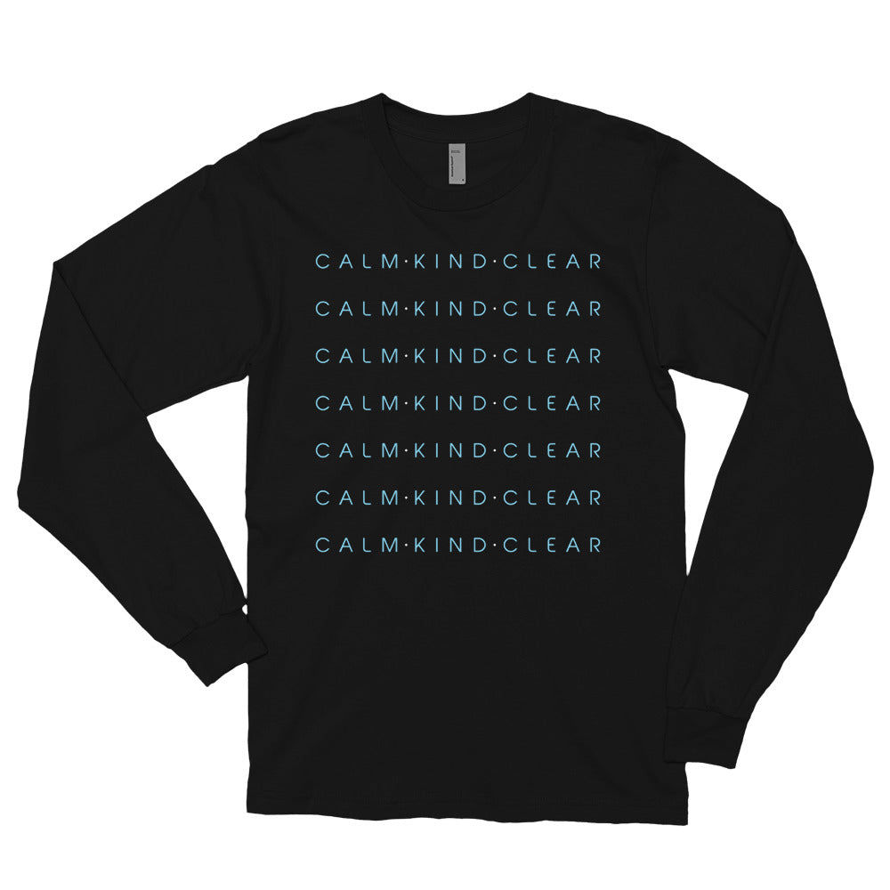 Calm Kind Clear Long sleeve t-shirt