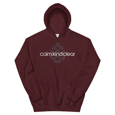 Calm Kind Clear Unisex Hoodie
