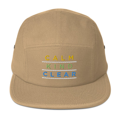Calm Kind Clear Five Panel Cap