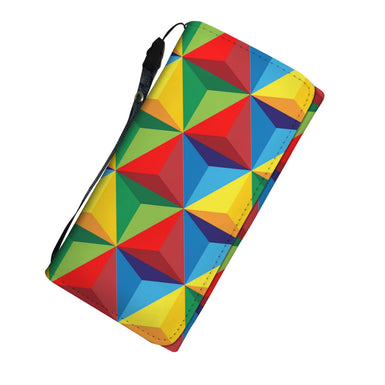 Cubed color ladies wallet.