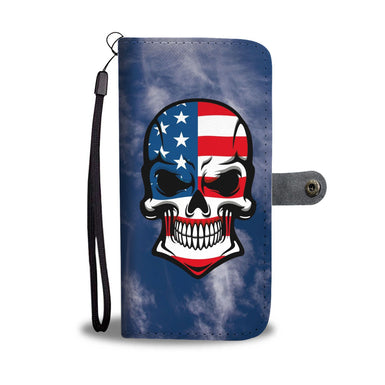 skull wallet case for phones