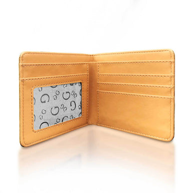 inside of american skull wallet with view window