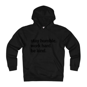 black hoodie with words on them motivation piece humble big pockets with pull cords