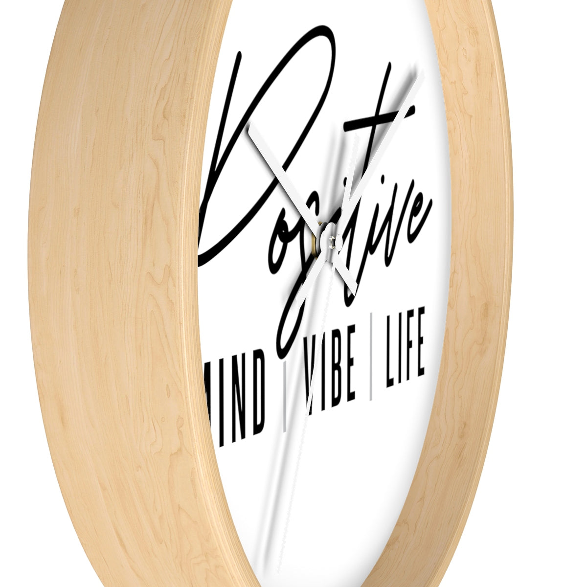 Positive vibe wall clock