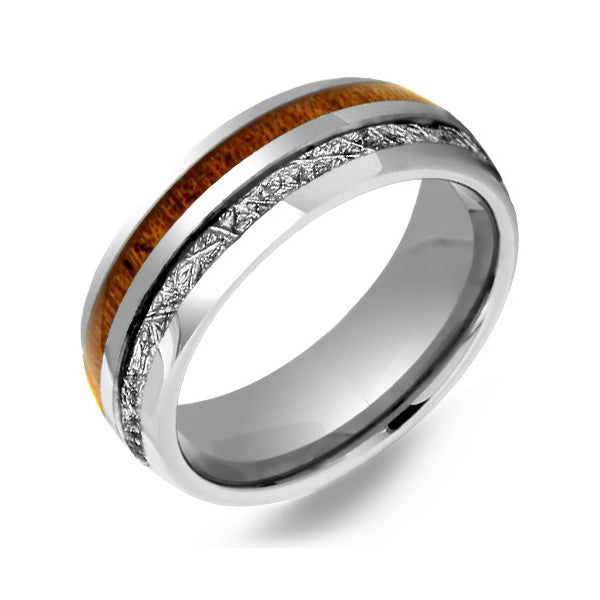 ring with meteor mens wedding ring