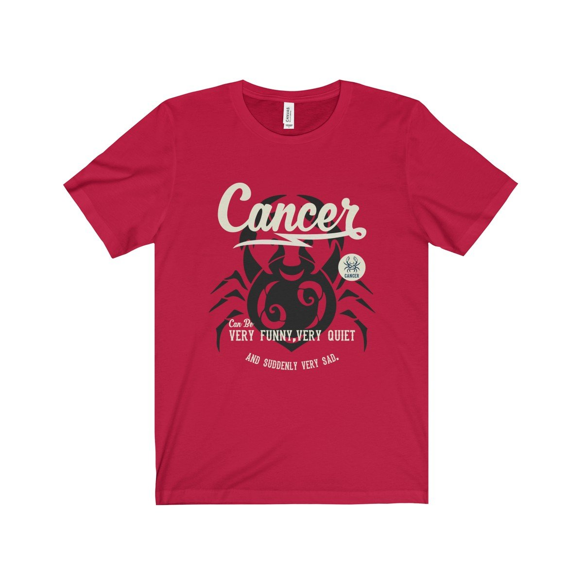 Cancer red shirt novelty astrological birthday shirt unisex