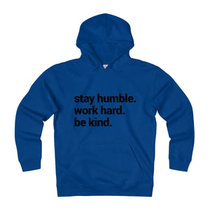 Stay humble blue hoodie sweatshirt