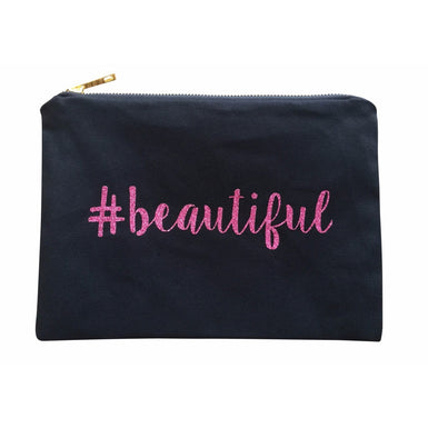 BEAUTIFUL Glitter Makeup Canvas Bag