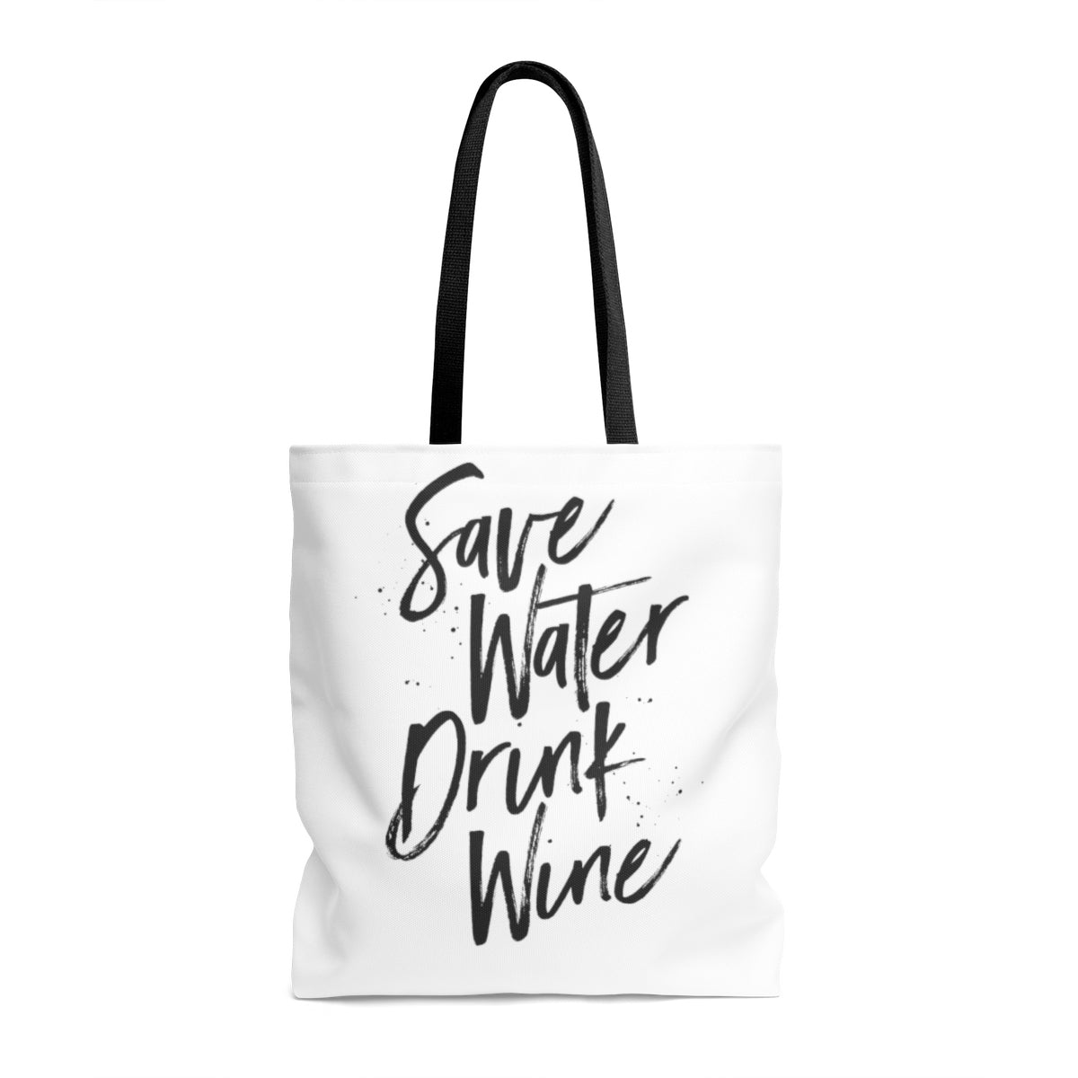 Save Water Drink Wine butterfly Tote Bag