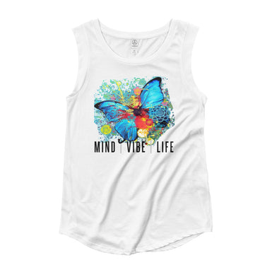 Butterfly top for women in white