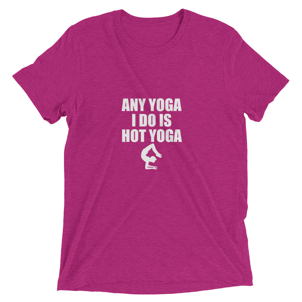 any yoga is hot in pink shirt
